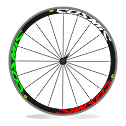 Mavic Cosmic sl 50 adesivi stickers tricolore bandiera italiana