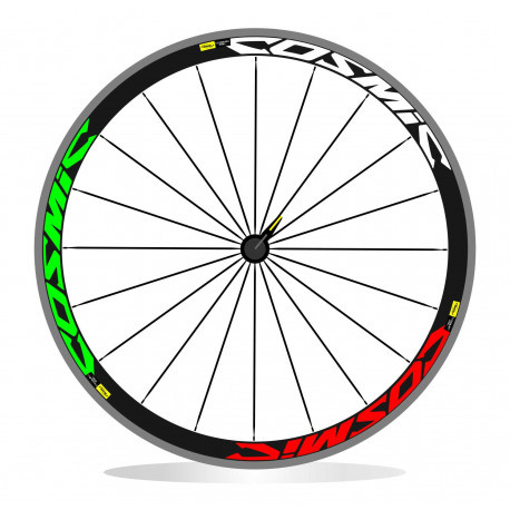 Cosmic Mavic sl 50 adesivi stickers tricolore bandiera italiana